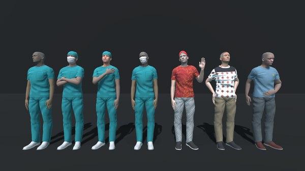 3D vr pack - doctors model