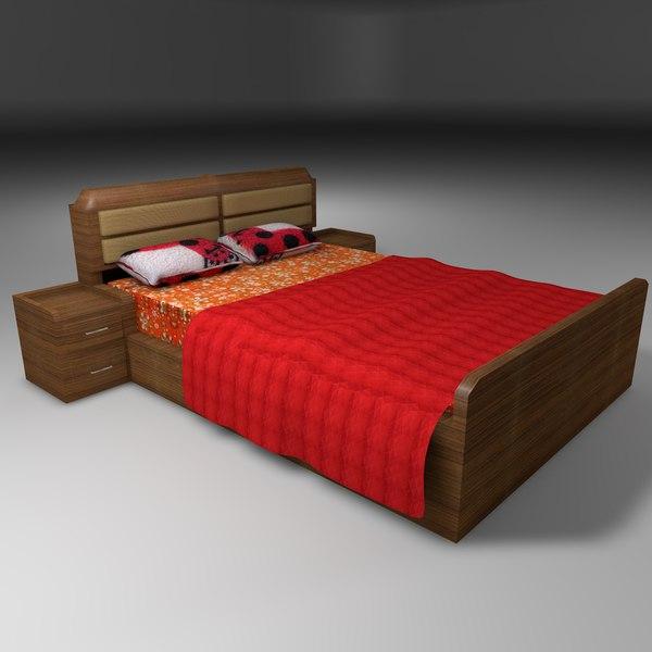 3D bed king model