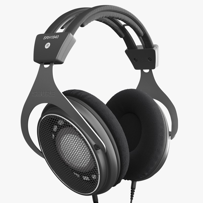3D shure srh1840 headphones