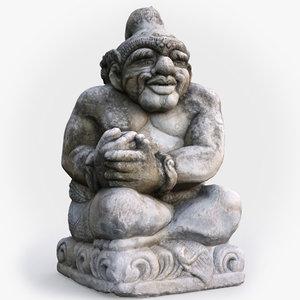 balinese guardian statue 3D model