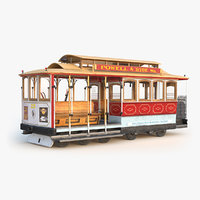 3D san francisco cable car model
