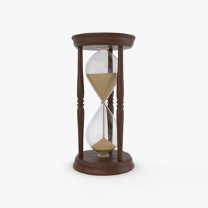 3D hourglass glass hour