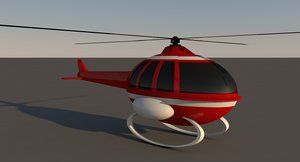 cartoon helicopter model