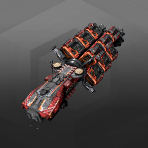 3D cargoship model