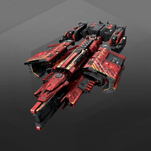 missiles ship 3D model