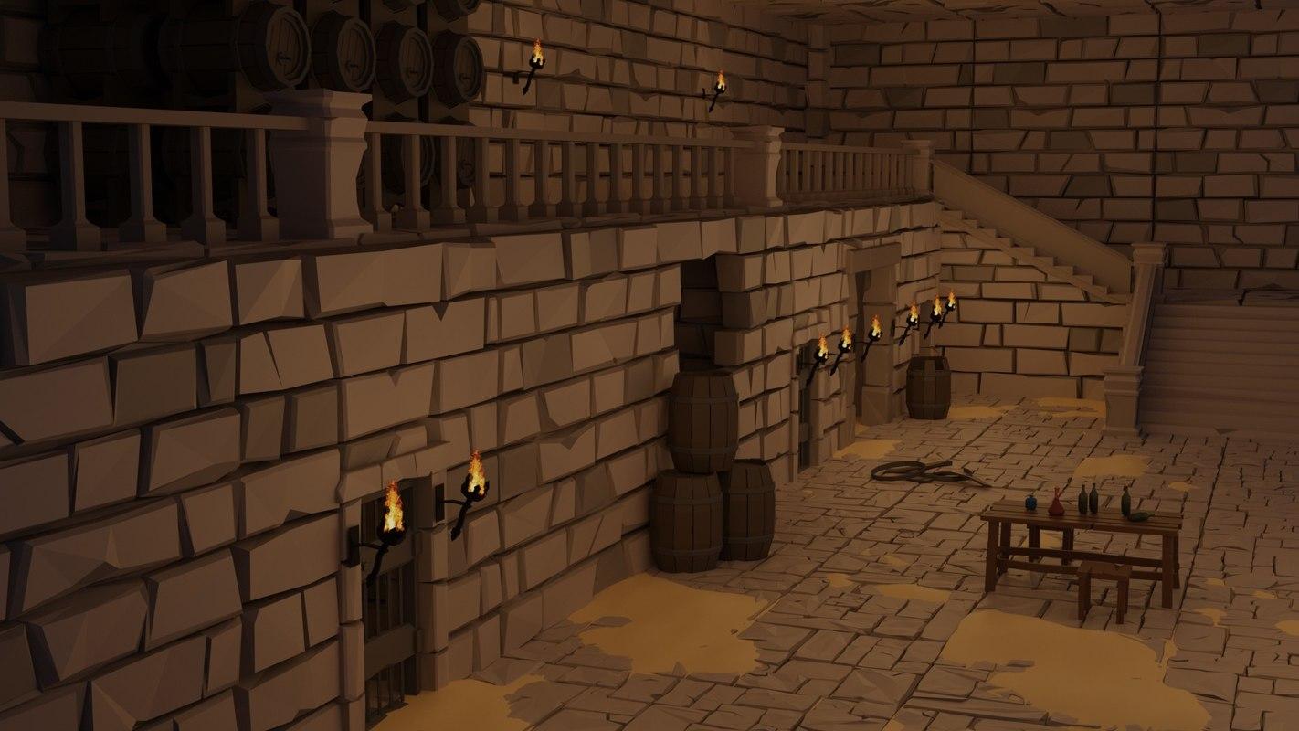 dungeon set 3D