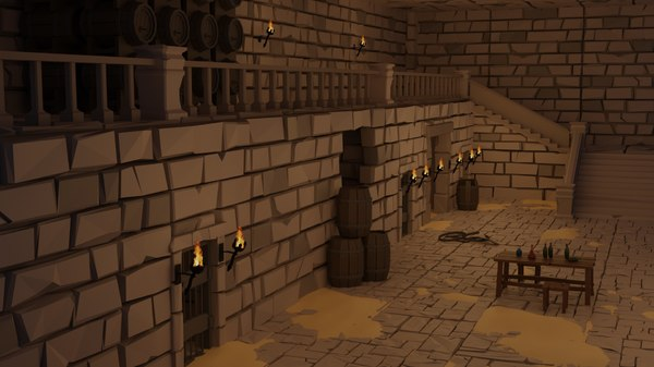 dungeon set 3D