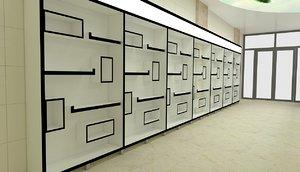 3D shelf cupboard