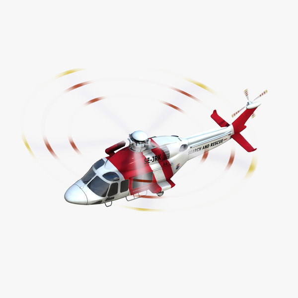 3D aw139 search rescue helicopter