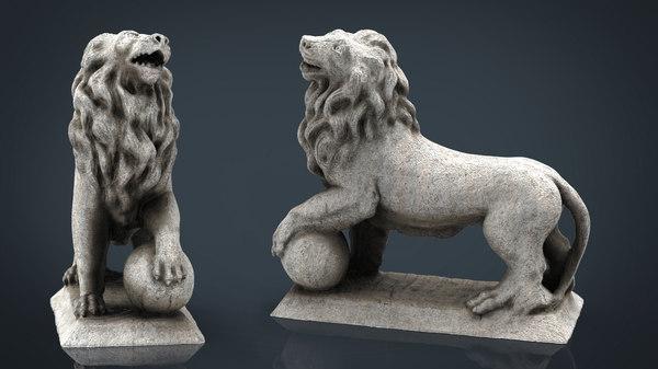 lion ball 3D