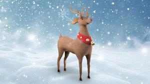 3D reindeer christmas