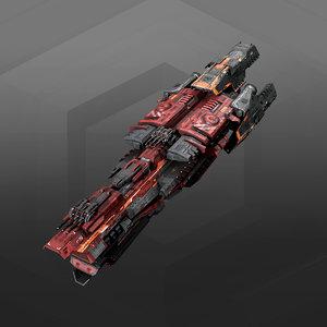 3D destroyer model