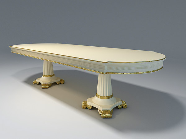 3D table elements carved decor