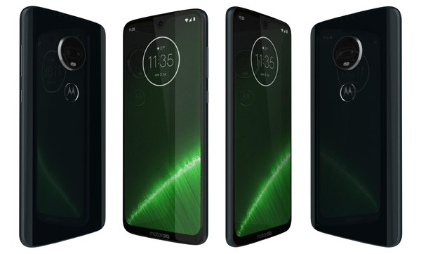 3D motorola moto g7 blue model