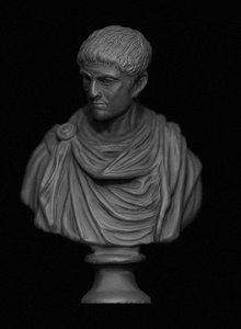 3D constantine emperor bust model