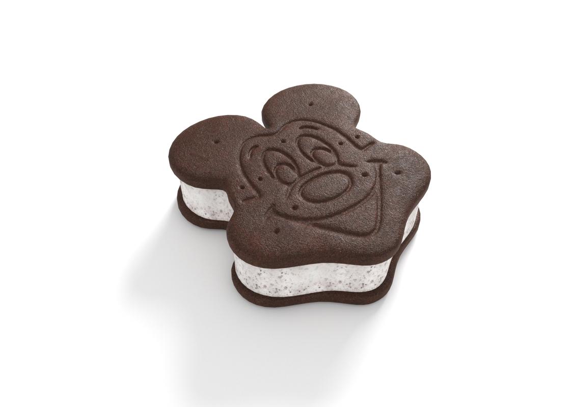 mickey ice cream sandwich 3D model