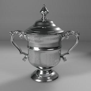 3D open women singles trophy