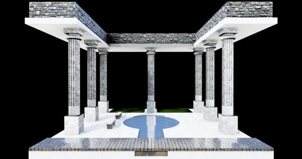 architecture test 3D model