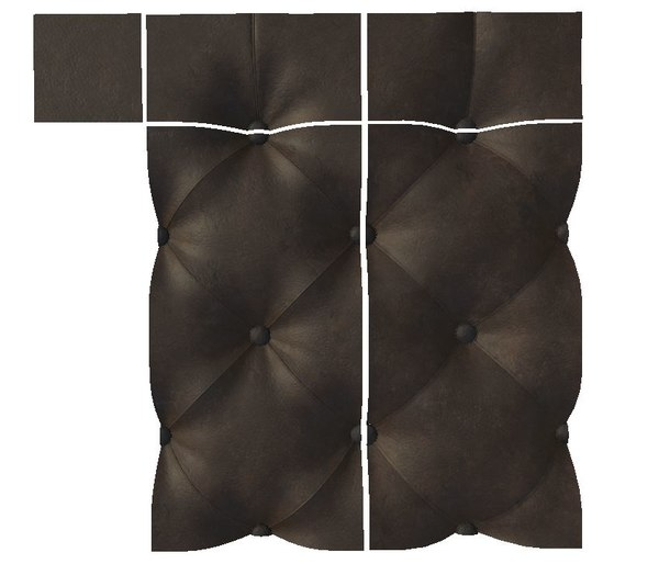 3D chesterfield patterns model
