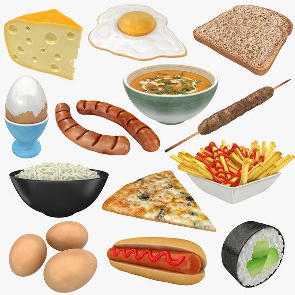 3D food boiled egg