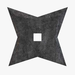 3D star shuriken throwing