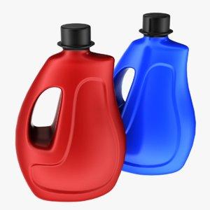 3D model detergent bottle