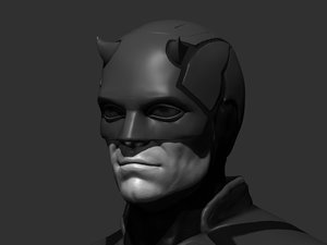 3D fake daredevil bullseye bust model