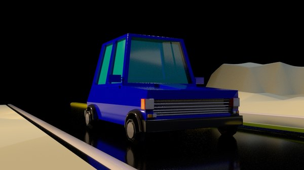 blue car model