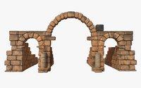 ruin volubilis 3D model