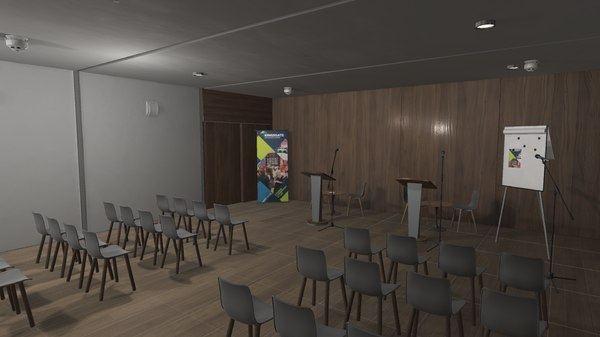 3D vr conference hall - model