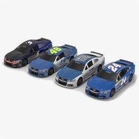 pack nascar cars hendrick 3D model
