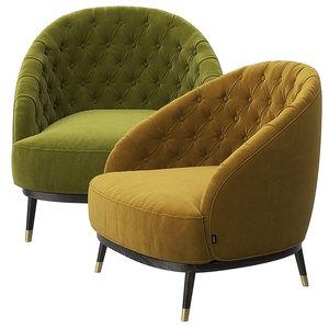 hector armchair 3D