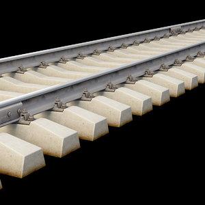 3D model rail r