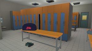 3D vr room interior cloackroom model