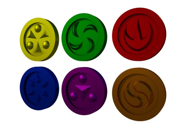 medallions ocarina time 3D model