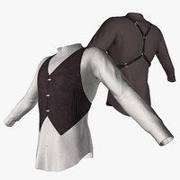 shirt vest 3D model