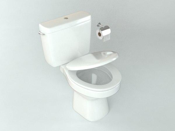 toilet architectural 3D model