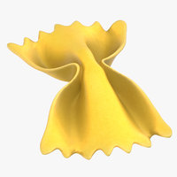 pasta farfalle 3D