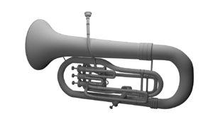3D euphonium model
