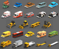 Voxel Vehicles Pack (24 Vehicles)
