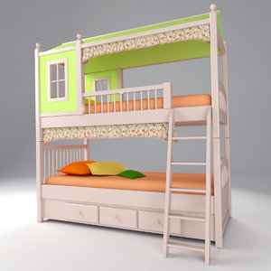 bed children 3D