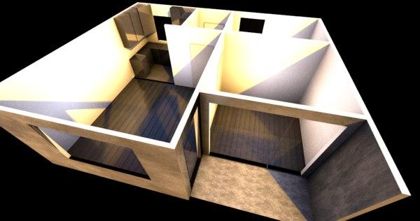 3D model apartment floor