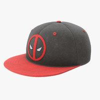 3D model snapback baseball cap