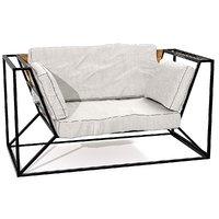 sofa metal 3D