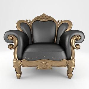 luxury armchair 3D model
