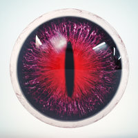 cat eye violet 3D