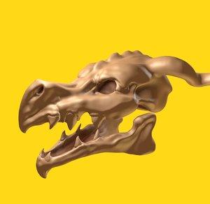 dragon skull 3D model