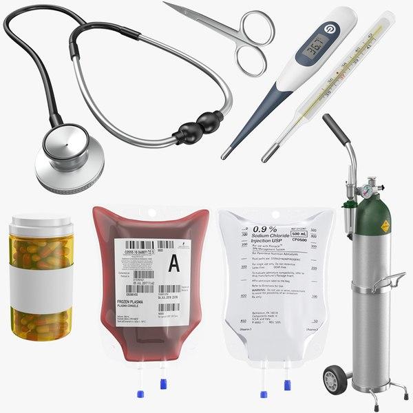3D model real medical equipment