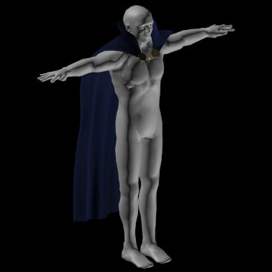 wizard cape 3D model