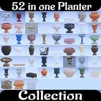 3D urn planter garden